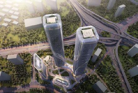郑州  杭州将建280米高双子塔