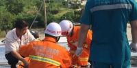 男子楼顶施工遭电击   开封消防成功解救 - 消防网