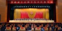 河南省工会第十五次代表大会胜利闭幕 - 总工会