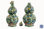 千珍堂拍卖精品推荐-----粉彩花卉葫芦瓶 - 郑州新闻热线